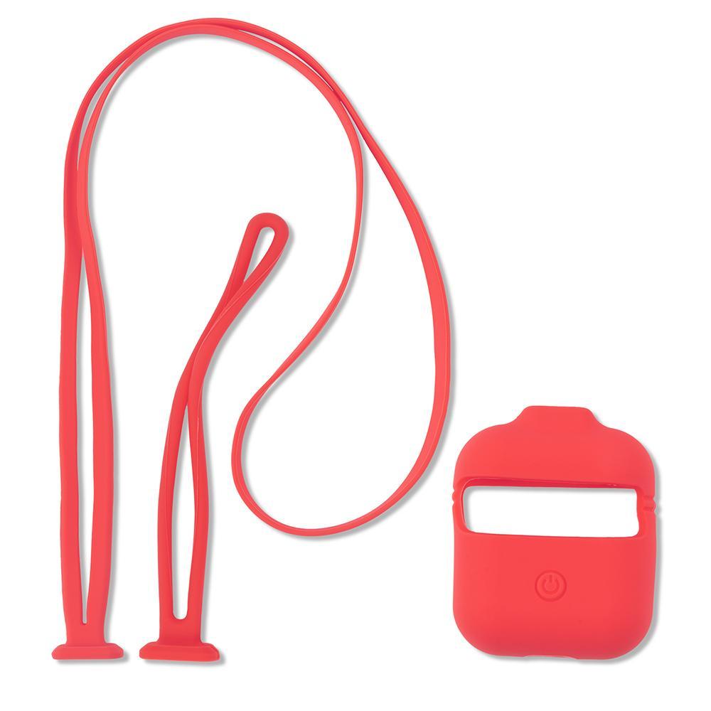 Image of   4smarts Silikoneholder til Apple AirPods Charging Case m. 2 Stropper - Pink
