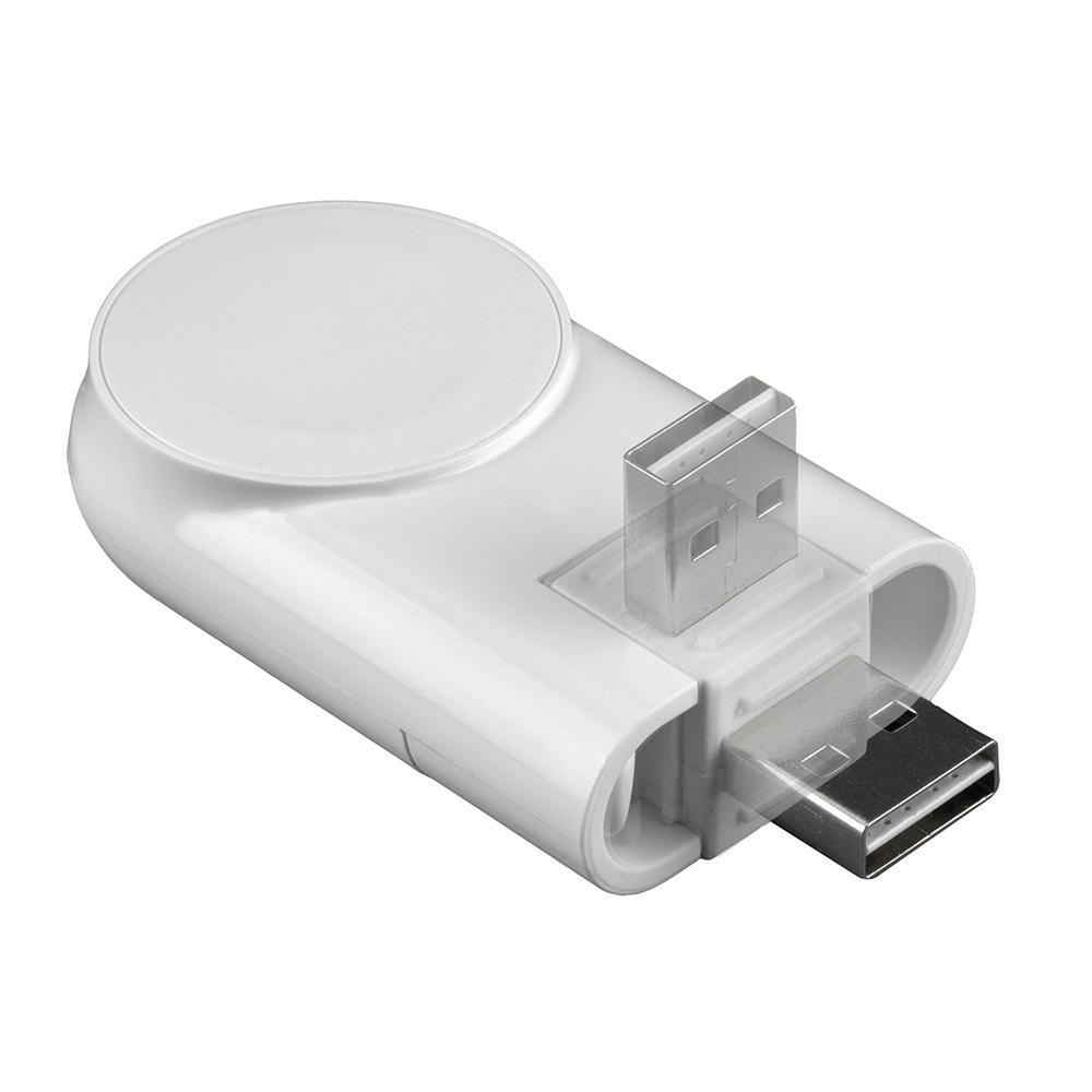 Image of   4smarts Apple Watch Magnetisk Opladerstation m. Roterbart USB-A Stik - Hvid