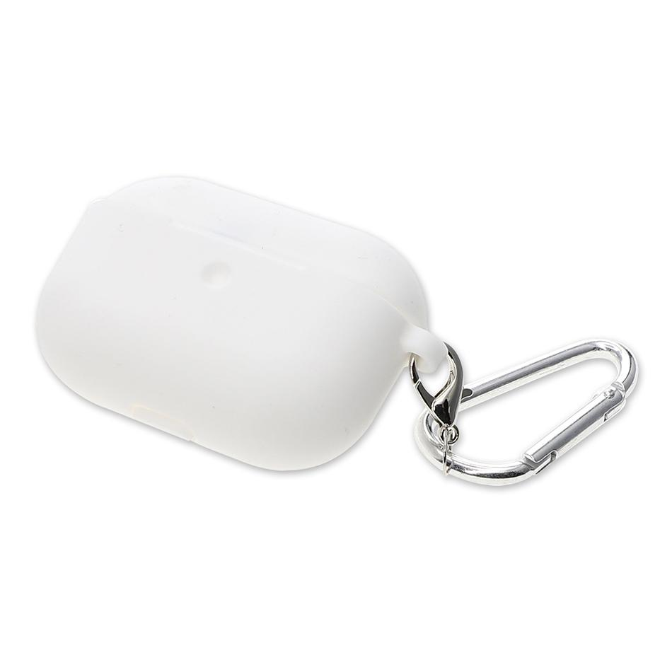 Image of   4smarts Silikone Cover m. Karabinhage Til Apple Airpods Pro - Hvid