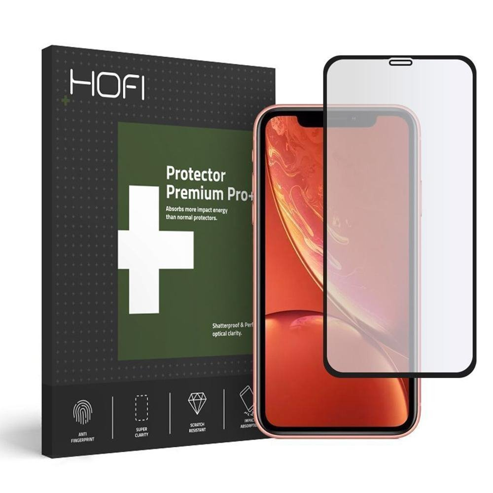 Image of   HOFI Premium iPhone 11 Panserglas Skærmbeskyttelse - Full Fit m. Sort Kant