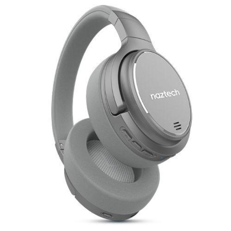Billede af Naztech ANC1000 Bluetooth Over-Ear Bluetooth Hovedtelefoner m. Active Noise Cancelling - Sølv