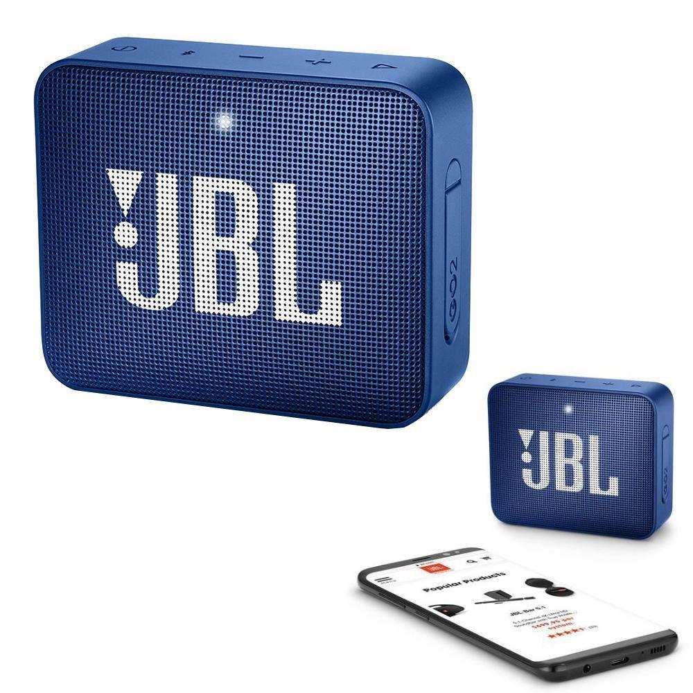JBL GO 2 Bluetooth Waterproof Trådløs Vandtæt Højttaler – Blå