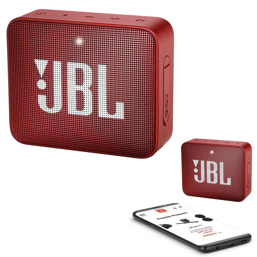 JBL GO 2 Bluetooth Waterproof Trådløs Vandtæt Højttaler – Rød