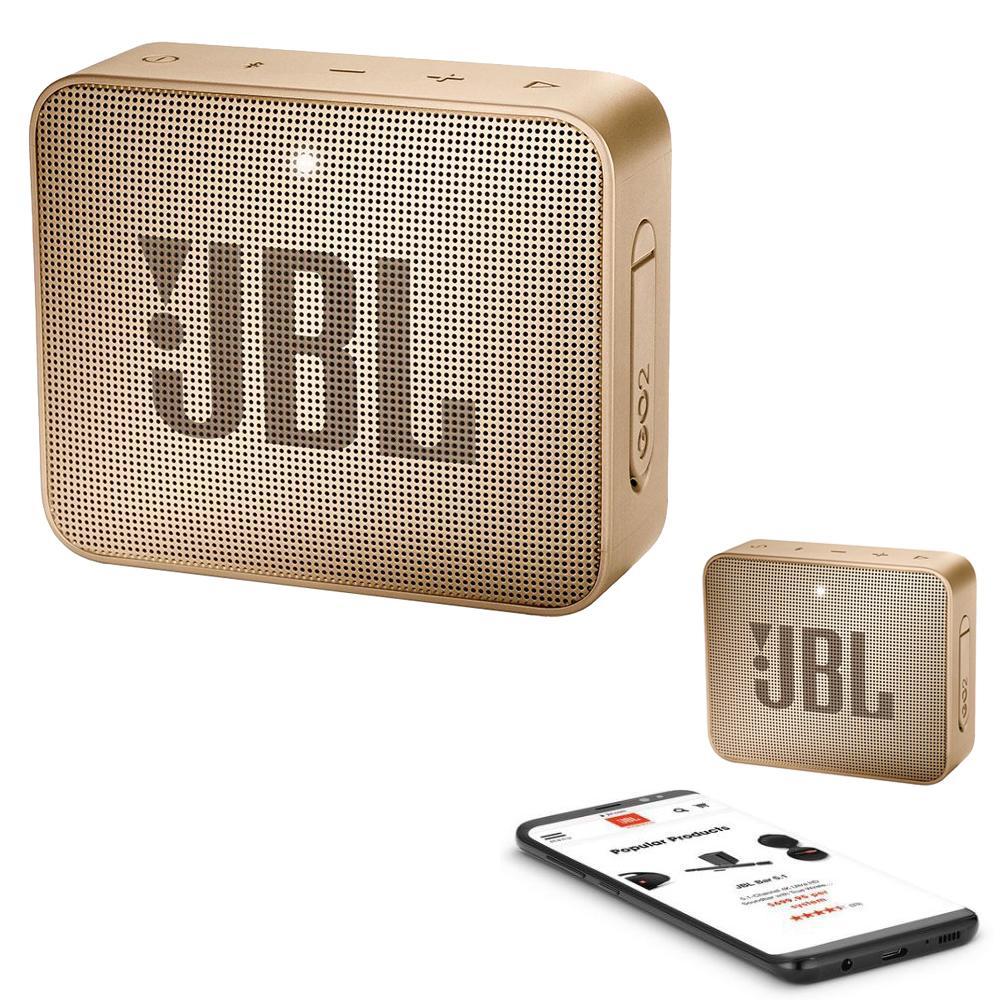 JBL GO 2 Bluetooth Waterproof Trådløs Vandtæt Højttaler – Champagne