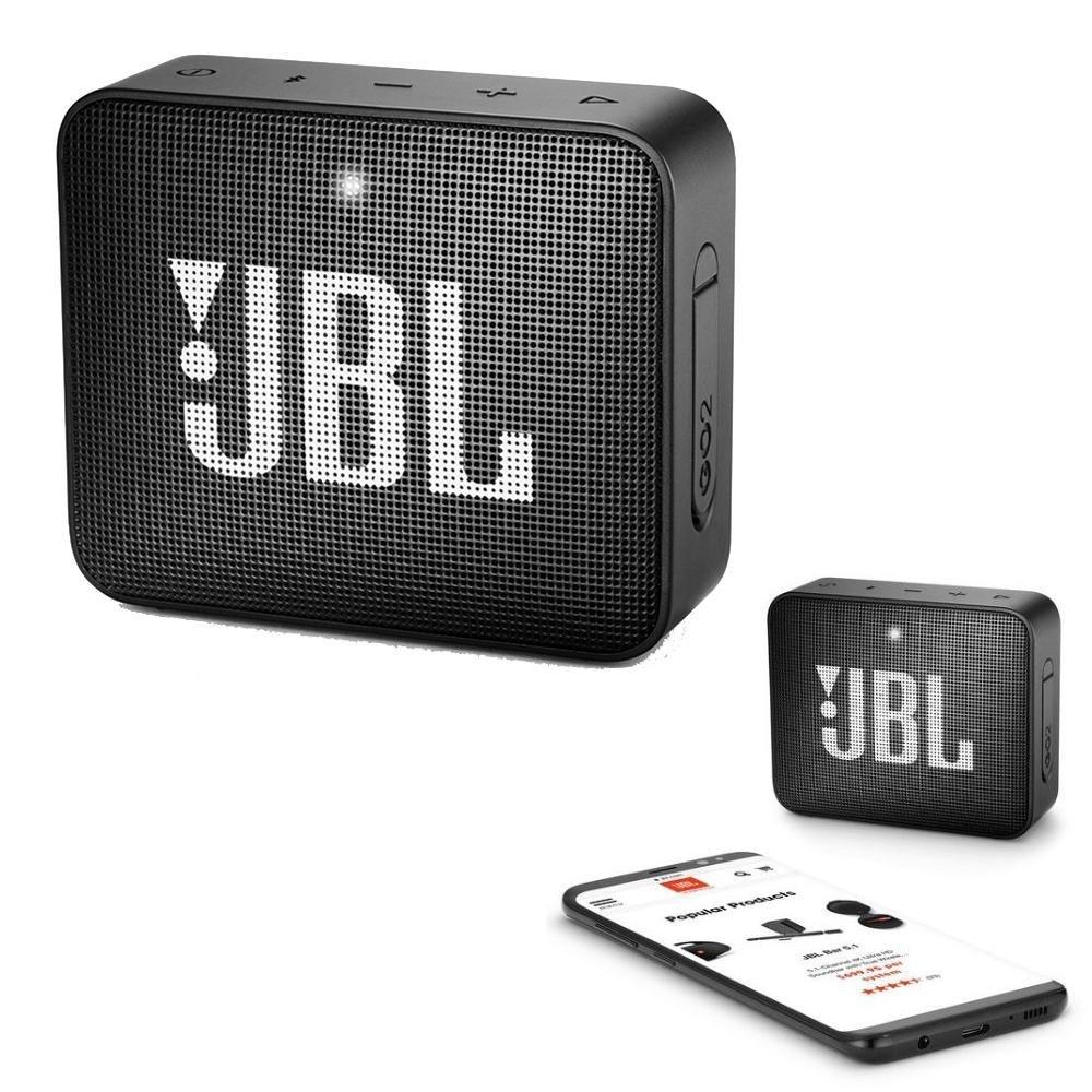 JBL GO 2 Bluetooth Waterproof Trådløs Vandtæt Højttaler – Sort