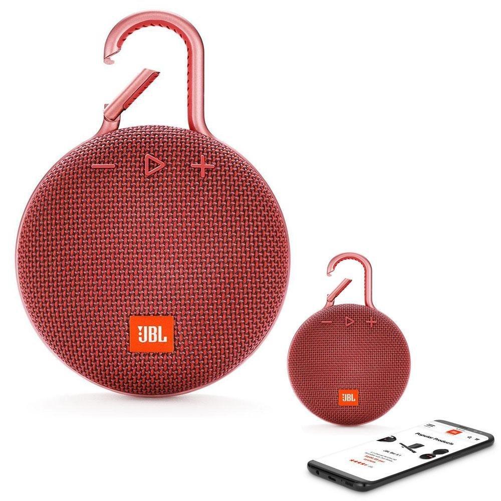 JBL CLIP 3 Bluetooth Waterproof Trådløs Vandtæt Højttaler – Rød