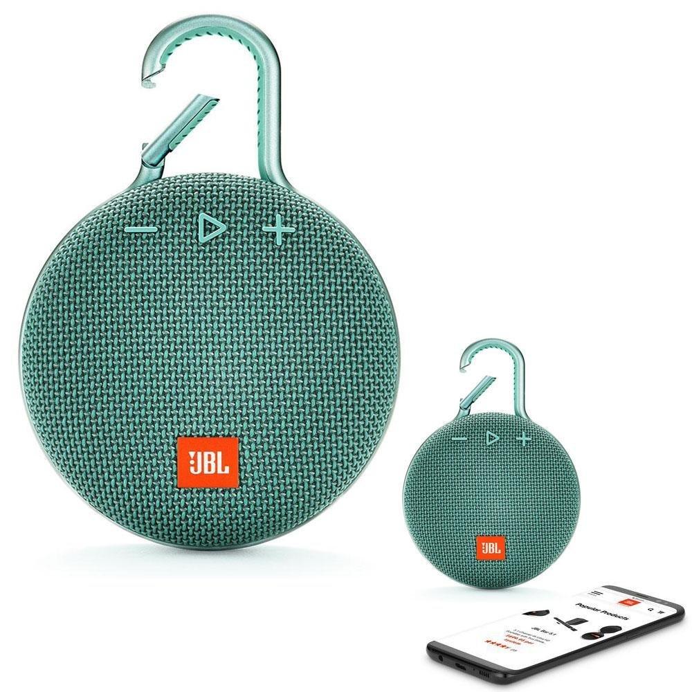 JBL CLIP 3 Bluetooth Waterproof Trådløs Vandtæt Højttaler – Teal