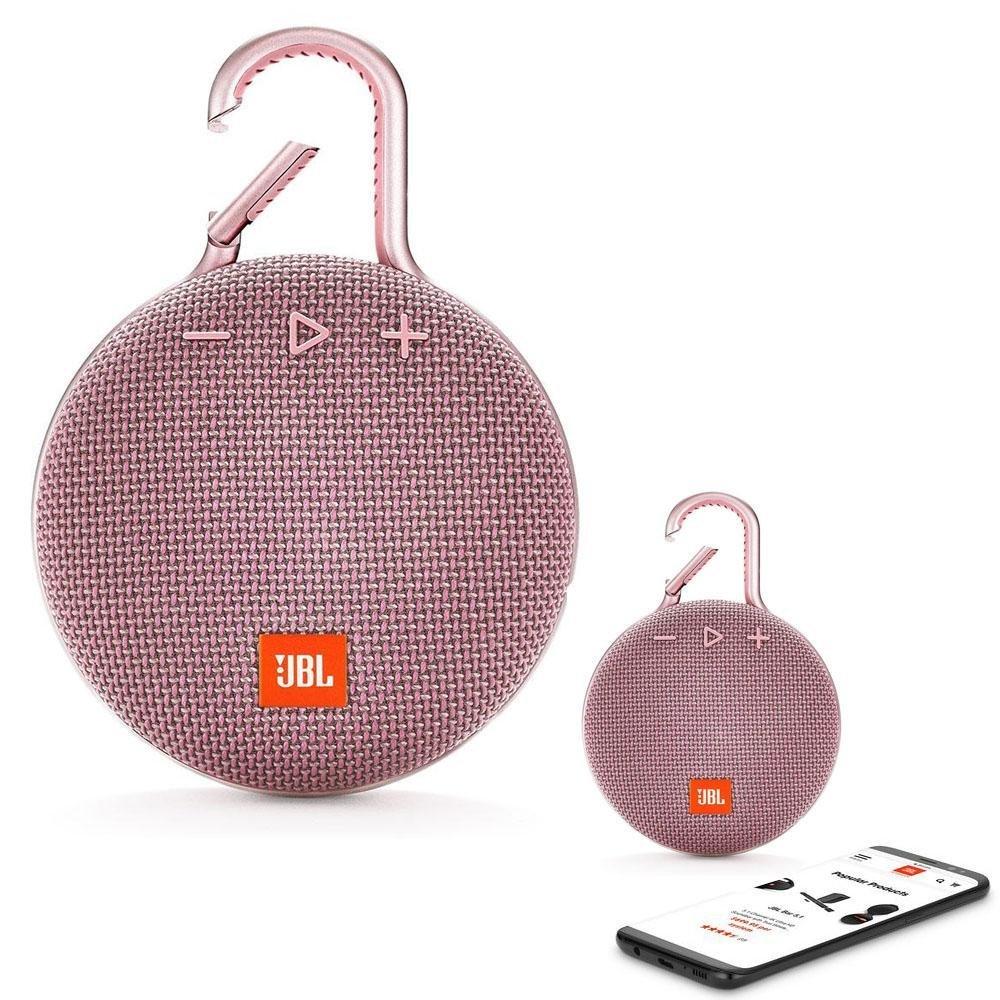 JBL CLIP 3 Bluetooth Waterproof Trådløs Vandtæt Højttaler – Pink