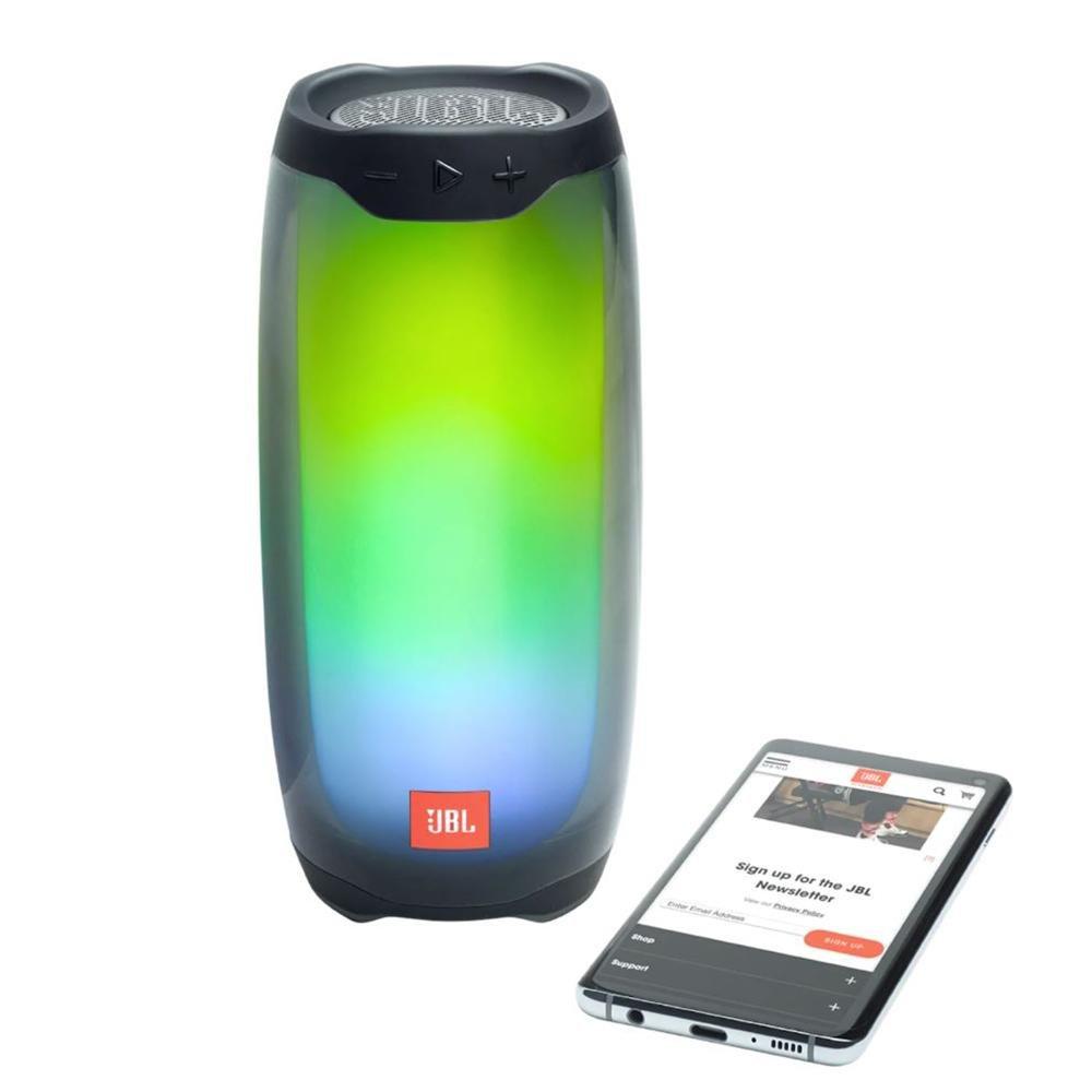 JBL Pulse 4 Bærbar Bluetooth Højttaler m. Lysshow – Sort