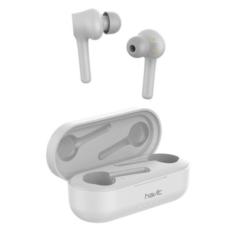 Billede af Havit i92 Trådløs In-Ear True Wireless Sport Headset m. Charging Case - Hvid