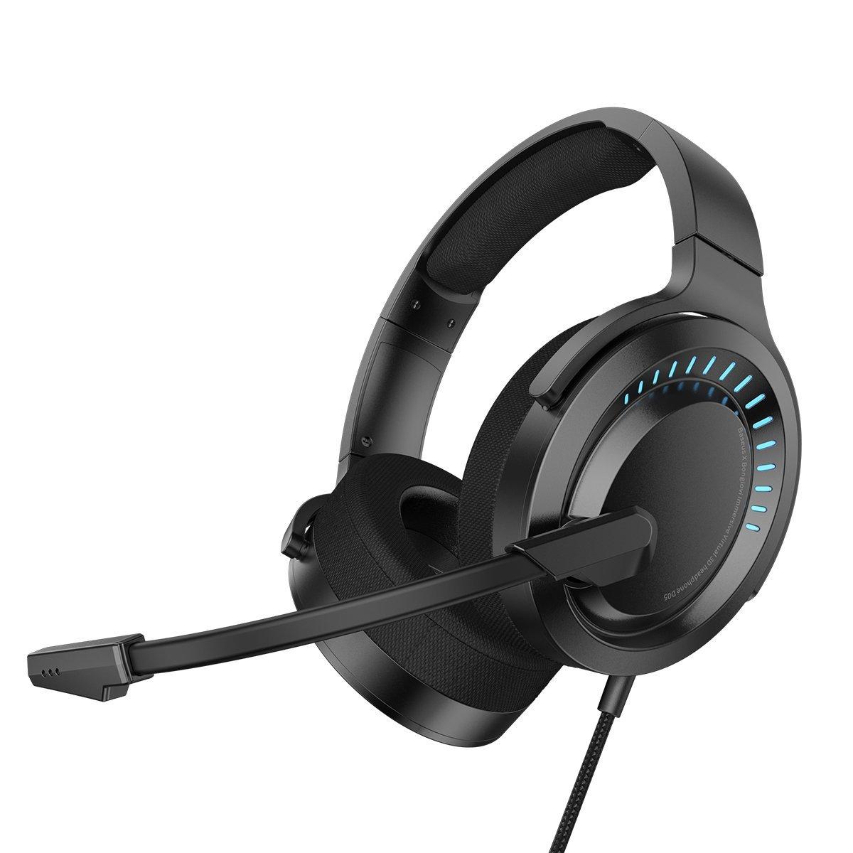 Billede af Baseus GAMO 3D Gaming Headset Til Computer m. RGB - Sort