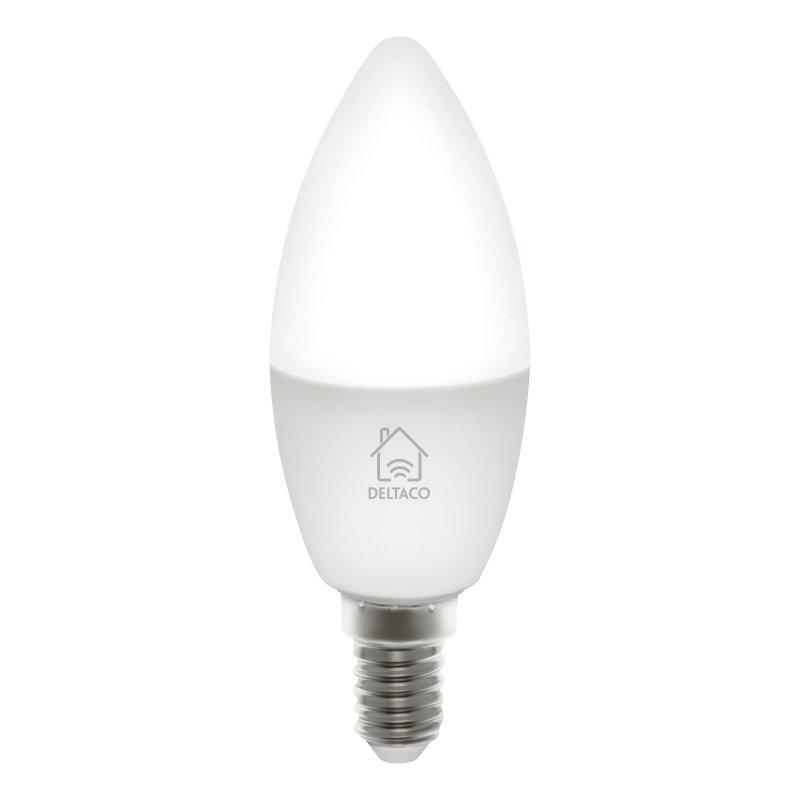 Image of   Deltaco Smart Home E14 Smart Bulb 5.5W - Hvid