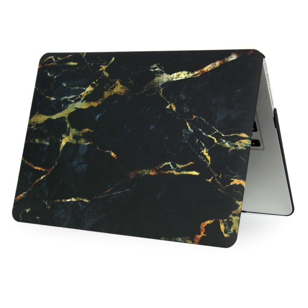 Image of   Macbook Air 11.6 Inch Marmor Cover - Sort/guld