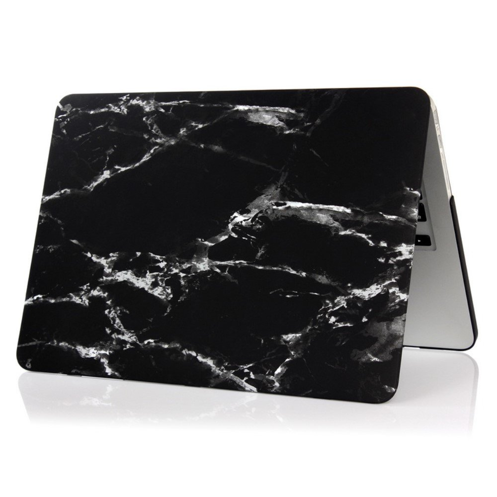 Image of   Macbook 12 Inch Retina (2015 model) Marmor Cover - Sort/hvid