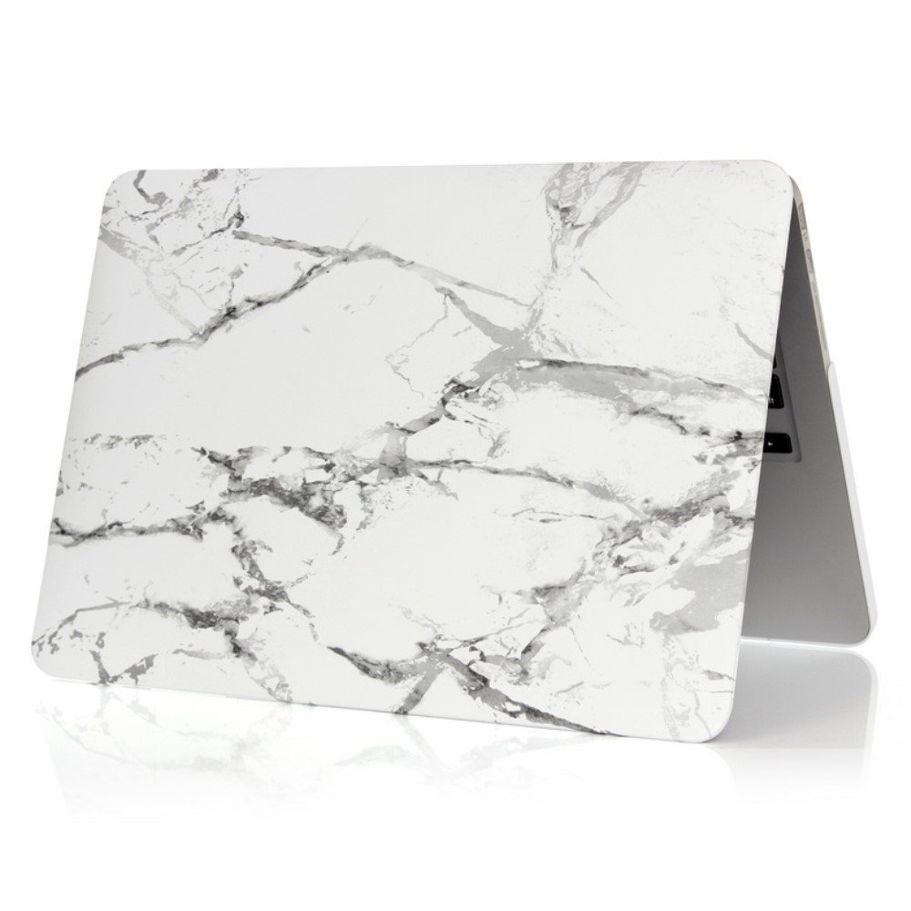 Image of   Macbook 12 Inch Retina (2015 model) Marmor Cover - Grå/hvid