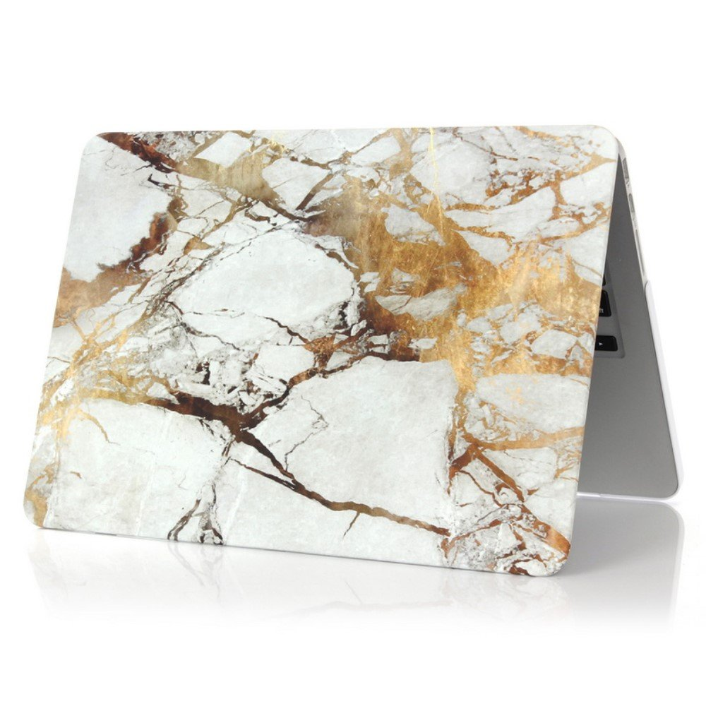 Image of   Macbook Pro 13.3 Inch (Retina) Marmor Cover - Grå/guld