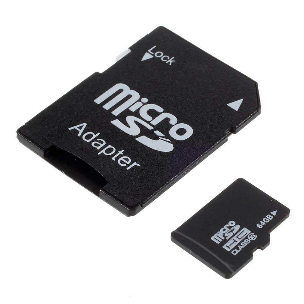 Image of   64GB Micro SDHC klasse 10 hukommelseskort M. Adapter