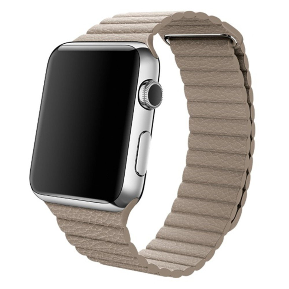 Image of   Apple Watch Læderrem 42-44mm - Brun
