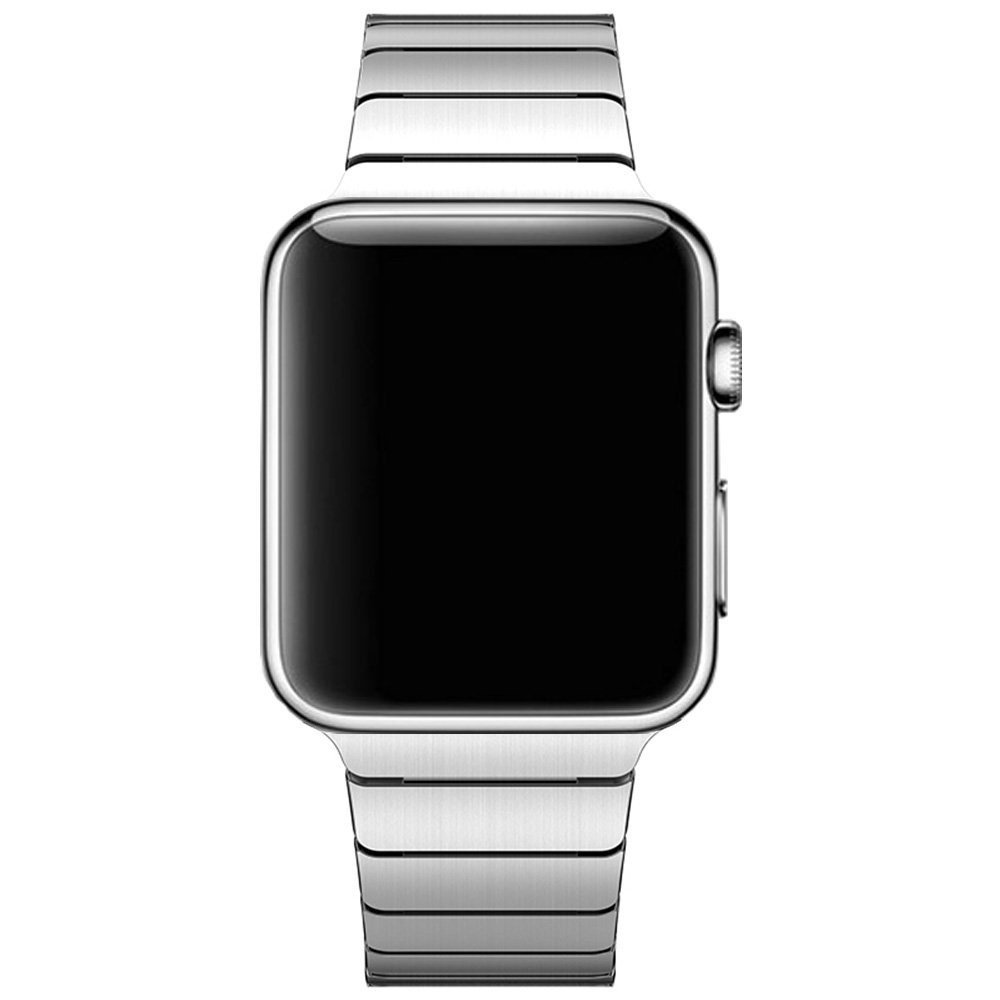 Image of   Apple Watch Rem 42-44mm Rustfri Stål m. Stifter - Sølv