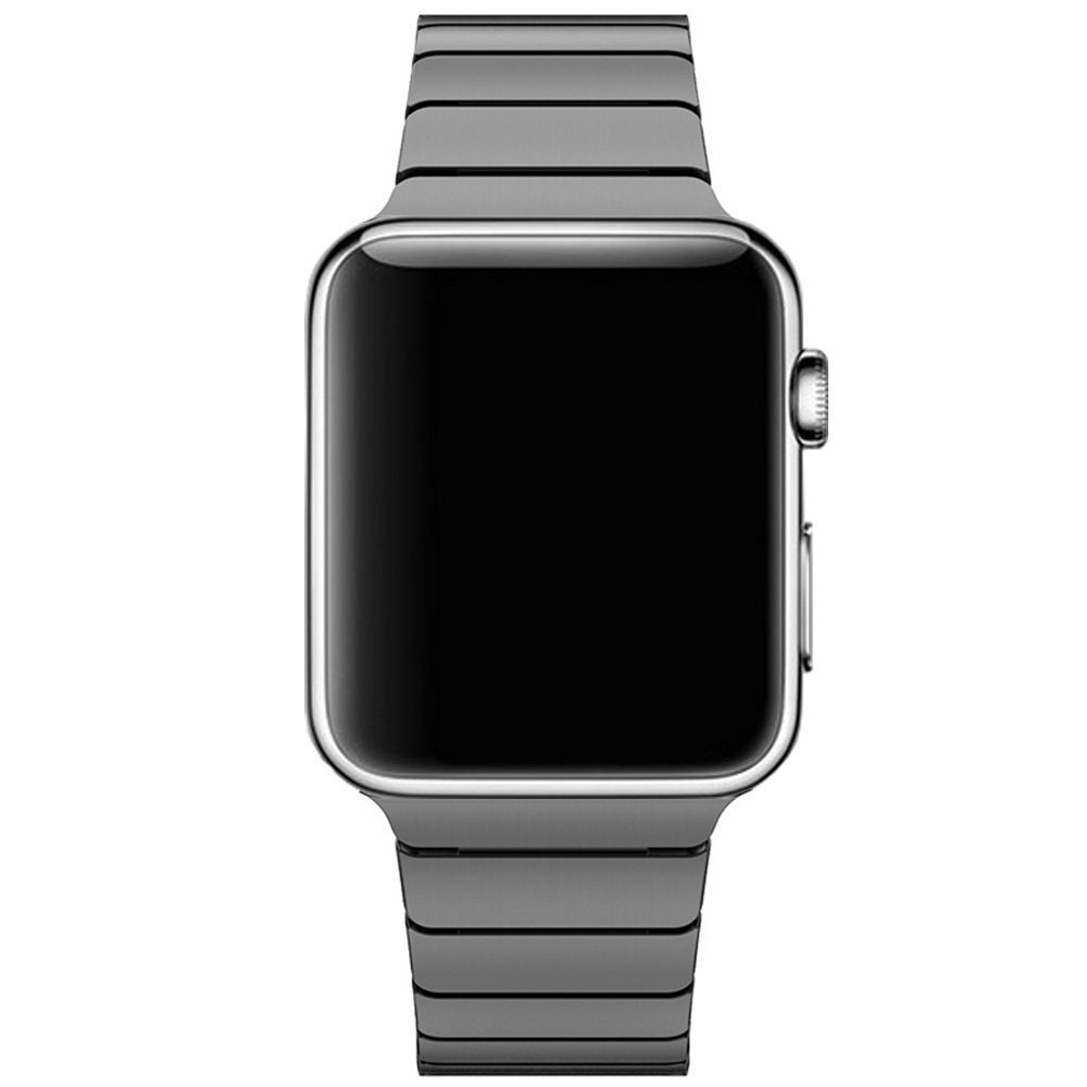 Image of   Apple Watch Rem 42-44mm Rustfri Stål m. Stifter - Sort