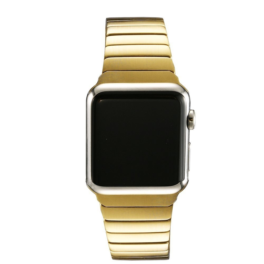 Image of   Apple Watch Rem 42-44mm Rustfri Stål m. Stifter - Guld