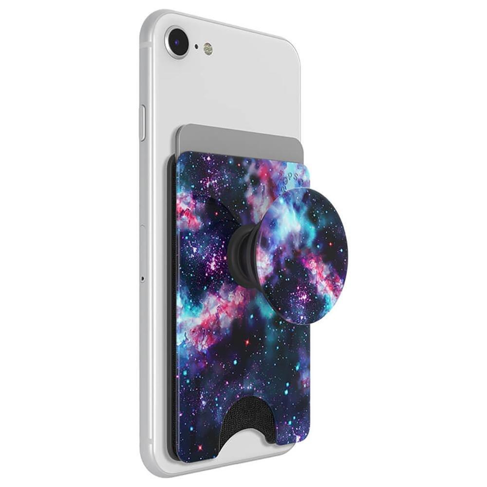 Image of   POPSOCKET PopWallet+ Aftagelig Kreditkortlomme m. Popsocket - Galactic Nebula