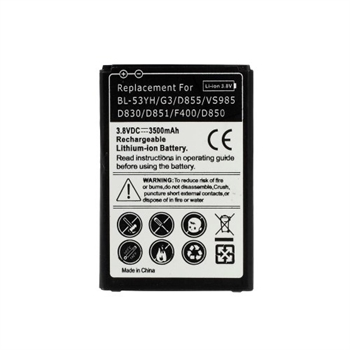 Image of   LG G3 3500mAh Højkapacitet Batteri
