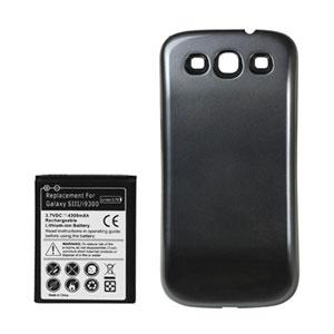 Image of   Samsung Galaxy S3 4300mAh batteri med blåsort bagplade