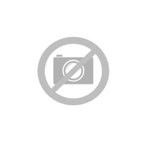 iPhone 12 Pro Max Plastik Cover Læderbetrukket  - MagSafe Kompatibel - Mørkeblå