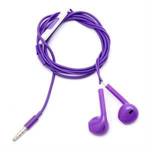 Billede af Høretelefoner med mikrofon - lilla