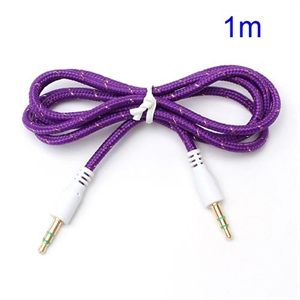 Image of   3.5mm - 3.5mm Audio Kabel - Lilla