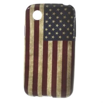 Billede af LG L40 inCover Design TPU Cover - Stars & Stripes