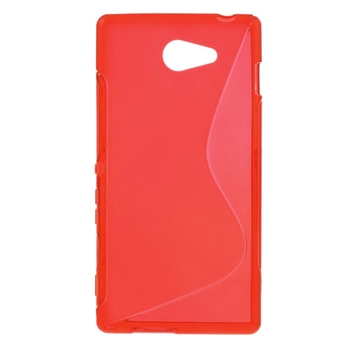 Billede af Sony Xperia M2 inCover TPU S-Line Cover - Rød