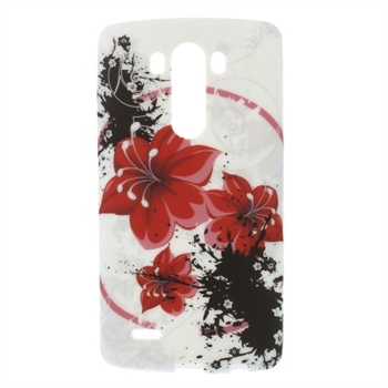 Image of LG G3 inCover Design TPU Cover - Red Flower