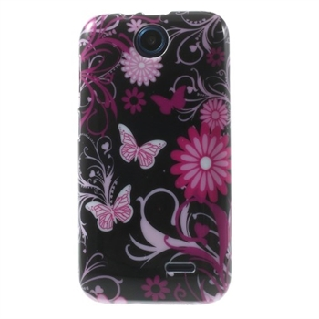 Image of HTC Desire 310 inCover Design TPU Cover - Butterfly Flowers