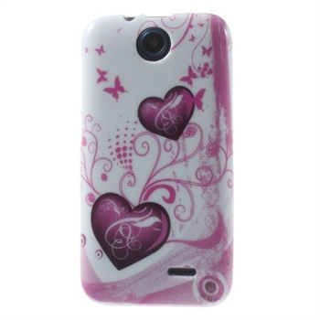 Image of HTC Desire 310 inCover Design TPU Cover - Two Hearts