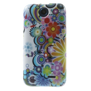Image of HTC Desire 310 inCover Design TPU Cover - Flower Power