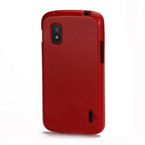 Billede af Google Nexus 4 TPU cover fra inCover - rød