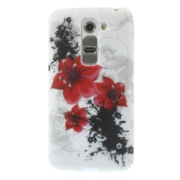 Image of LG G2 Mini inCover Design TPU Cover - Red Flowers
