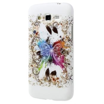 Billede af Samsung Galaxy Grand 2 inCover Design TPU Cover - White Butterfly