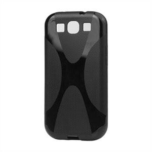 Image of   Samsung Galaxy S3 TPU X-line cover fra - sort