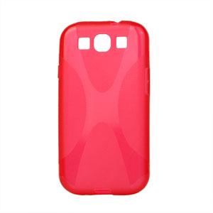 Billede af Samsung Galaxy S3 TPU X-line cover fra inCover - rød