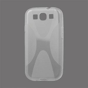 Billede af Samsung Galaxy S3 TPU X-line cover fra inCover - gennemsigtig