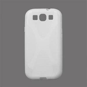 Billede af Samsung Galaxy S3 TPU X-line cover fra inCover - hvid