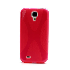 Image of   Samsung Galaxy S4 TPU X-line cover fra inCover - rød