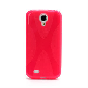 Image of   Samsung Galaxy S4 TPU X-line cover fra inCover - rosa