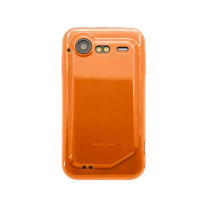 HTC Incredible S TPU cover fra inCover - orange