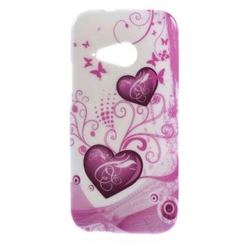 HTC One Mini 2 inCover Design TPU Cover - Two Hearts