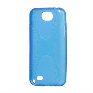 Billede af Samsung Galaxy Note 2 TPU X-line cover fra inCover - blå