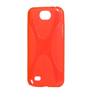 Billede af Samsung Galaxy Note 2 TPU X-line cover fra inCover - rød